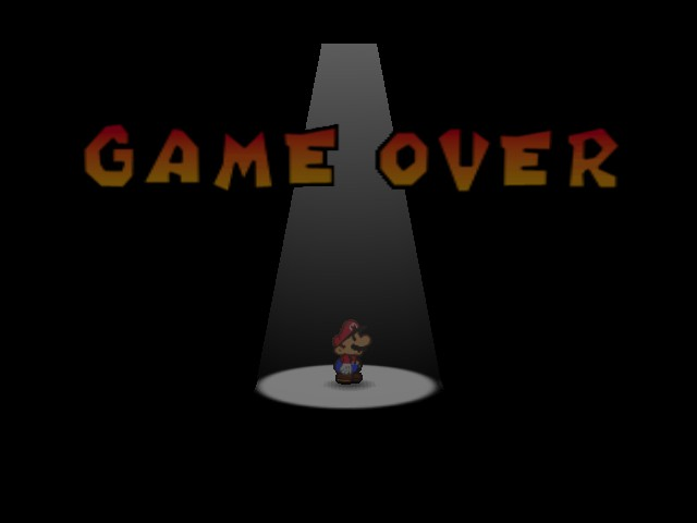 Paper Mario - Gameover  - Aww man.... - User Screenshot